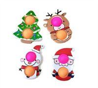 55% Rabatt auf Weihnachtszappeln Spielzeug Push Antistress Cartoon Toy Party Geschenke Einfache Grübchen Weiche Sinnesverwendbare Squeeze Großhandel YouPin 100 stücke