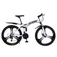 Neue weiße 26-Zoll-21-fach-faltendes Mountainbike-Speichen-Rad Dual-Federbike für Erwachsene