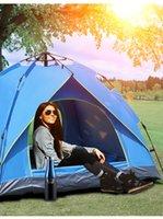 Shade Camping 2-3-4 Pessoas grossas à prova de chuva à prova de chuva tenda de mola de abertura rápida descanso ao ar livre