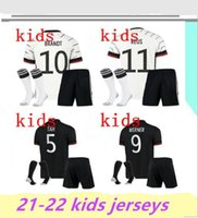 Kit Kit + calcetines Alemania Jersey de fútbol 2021 Versión de fans Hummels Kroos Gnabry Werner Draxler Reus Muller Gotze Camisa de Fútbol Uniformes Kit.