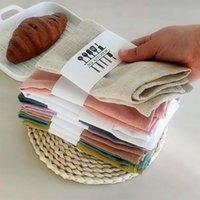 Color liso de algodón de lino de algodón Art Home Servilleta Comida Mat Toallas de té Toalla de cocina 40 * 40 cm
