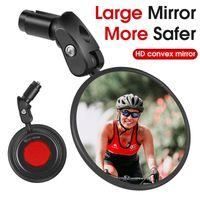 Bike Groupsets WEST BIKING Wide Range HD Bicycle Rearview Mirror Adjustable Handle Bar Reflector Mountain Blind Spot Cycling MTB