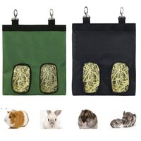 Small Animal Rabbit Feeder Hay Bags Hanging Feeding Dispenser Container for Chinchilla Guinea Pig Bunny OWE8742