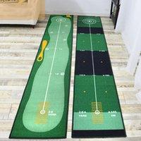 Домохозяйственный гольф Практика Одеяло Крытый офисный коридор Ковры Спальня Пол Коврик Зеленый Matter Mat Drop