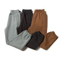 Batı Sezonu 6 Katı Renk Erkekler Pantolon 100 Pamuk Sweatpants Yüksek Sokak Joggers Casual Streetwear Pantolon