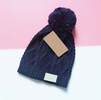 5 цветных шапочек / черепные колпачки зимний бренд женский меховой POM POMS шляпа для женщин вязаные шапочки для мультяшных шапов толстые чепухи оптом