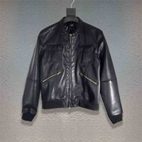 Amir i Super offer street fashion amiry zipper stand collar slim fit motorcycle leather jacket men MTSM
