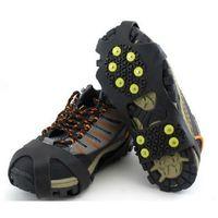1 paia 10 borchie ramponi anti-skid Gripper di ghiaccio Gripper arrampicata invernale Scarpe da neve Scarpe da snow Cover Spikes TPR Grips Boots Tacchetti Accessori Unisex 1596 Z2