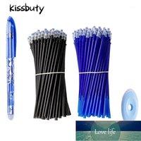 0.5 мм стиральный ручка набор синих черных чернил гелевая ручка стираемая пополнение стержень моющаяся ручка школьный офис сочинительство канцелярских гель чернил1