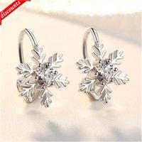 Рождественский подарок Специальная цена Inlaid Diamond Снежинки Серьги Серьги Серьги No Hole Clip Coll Clings Производитель Оптовая EK001