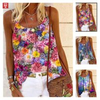 Vest T-shirt JPWJ Casual Round Neck Sling Hand Painted Positioning Printing Women's Summer Loose Buy