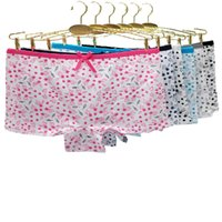 6 pieces set Safety Panties cotton boxer women underwear female panty printing floral lingerie ladies underpant girls