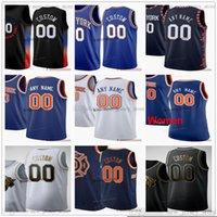 Jerseys de baloncesto impreso personalizado 9 RJ 30 Julius Barrett Randle 4 Derrick 20 Kevin Rose Knox 1 Obi Toppin 5 Immanuel Quickley Jersey