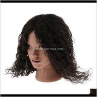Heads Hairdressing Cosmetology Sile Pratica pratica manichino manichino testa con 100percent capelli umani birichino nero dbbdj cs5dz