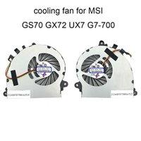 팬 냉각 컴퓨터 MSI GS72 GS70 MS 1771 1773 UX7 7G 700 CPU 냉각 팬 GPU 그래픽 쿨러 라디에이터 PAAD06015SL N184 N197 SALE