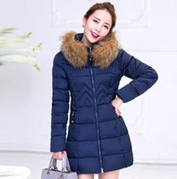womens winter jackets and coats Parkas for women 4 Colors Wadded Jackets warm Outwear With a Hood Large Faux Fur Collar