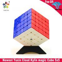 Yuxin Cloud Kylin 5x5 Cubo Mágico Adesivo 5x5x5 Puzzle Cubo Kylin Speed Cube Education Brinquedos para Crianças