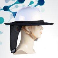 Casques de moto Chant de construction Soleil chapeau chapeau chapeau chapeau chapeau respirant plein bronçon d'été pataunes en tissu en tissu maille pour homme femme extérieure (bla