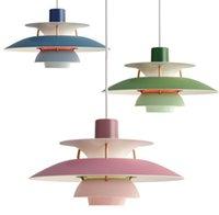 Danimarca Louis Poulsen PH5 E27 lampade a sospensione a sospensione lampadario ombrello colorato per soggiorno cucina cucina ristorante illuminazione infissi