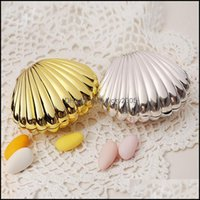 Gift Wrap Event Festive Home & Gardencreative Candy Gold Sier Shell Shape Sugar Box Wedding Party Supplies Package Boxes 10Pcs Lot Drop Deli