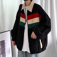 Women's Jackets spring velvet woman turn down jacket lady shreds female casual streetwear loose hip hop CP1P