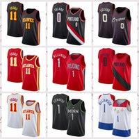 2021 الرجال المنخفضة السعر الرجعية الكلاسيكية كرة السلة جيرسي جوردون 20 هايوارد داميان 0 ليلارد R.J. 9 باريت خمر تنفس حجم قصيرة S-2XL أزرق أبيض أسود أحمر