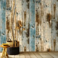 Wallpapers LUCKYYJ Peel And Stick Wallpaper Wood Plank Faux Removable Self-Adhesive Vintage Wall Covering Prepasted Decor