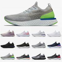 Tercihli Satış Eğitmenler Ayakkabı Nefes Tenis Epic Reaktif Sinek Örgü Erkek Kadın Koşu Ayakkabıları Tüm Beyaz Gri Volt Kurabiye Krem Spor Sneakers 36-45