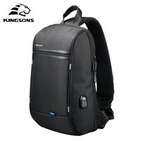Kingsons 13'' Waterproof Single Shoulder Laptop Backpack for Men and Women School Bag Computer Travel Business Mochila 210825