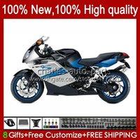 Carrosserie de moto pour BMW K 1200 K1200 S 1200S Bleu Blue Black 2005 2006 2006 2006 2006 2009 2012 Body 28No.75 K1200-S K-1200S 05-10 K1200S 05 06 07 08 09 10 Catériel + Couverture de réservoir