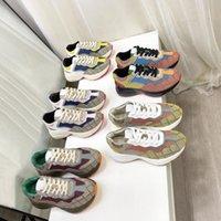 Chaussures de marque de luxe Sneakers Rhyton Beige Hommes Femmes Formatrices Vintage Chaussures Mesdames Classic Mode Designers Sneignes avec boîte taille 35-46