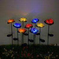 Лотос цветок свет светодиодный водонепроницаемый солнечный пруд садовые украшения многоцветный изменяющийся ландшафт декоративный открытый лужайкий лампа море DWC7578