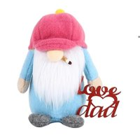 Father's Day Hat Rudolph Plush Faceless Doll Party Gifts Decorations Cartoon Love You Dad Plushed Dwarf Gnome Party Ornament NHA5085