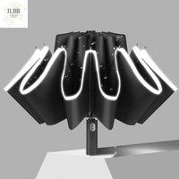 Umbrellas Fully Automatic Reflective Strip Gel Reverse 10 Bone Umbrella Folding Rain Two-use Car Corporation