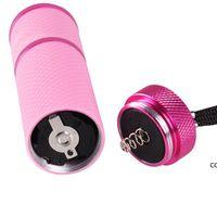 Mini UV LED Lamba Kurutucu Jel Çiviler El Feneri Taşınabilirlik Makinesi Nail Art Araçları DHA6183