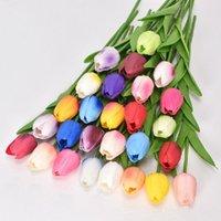 10 stücke echte touch künstliche blumen tulpen blume blumenstrauß braut schmücken blumen für hochzeitgarten dekoration 2018 v2