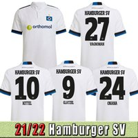 TOP THAÏLANDE 21 22 HSV MÄNNER Kinder Soccer Soccer Jerseys Hamburger SV Kittel Leibold Dudziak Terodde Hommes Kits Enfants Définit les uniformes de Shirts de football Jersey