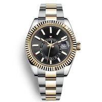 Top Luxury Watch Mens Automatic Mechanical Calendar 42mm Stainless Steel Sky-Dweller GMT Men's Luminous Fashion Waterproof