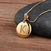 Ketten Top Qualität Frauen Mädchen Anfangsbuchstaben Halskette Gold 26 Buchstaben Charme Halsketten Anhänger Kupfer CZ Schmuck Personalisiert