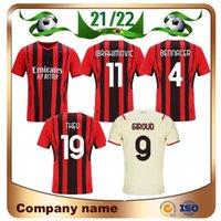 21/22 AC Milan Player версия Ibrahimovic Soccer Jersey 2021 Giroud Theo Brahim Tonali Mailoots de Foot рубашка Romagnoli R.Leao S.CACTILEJO KESSIE Футбольная форма