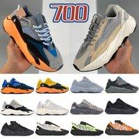 New 700 homens V1 V2 MNVN tênis sol Laço corante azul carbono amarelas Triplo Negros reflexivas as sapatilhas das mulheres