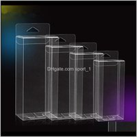 Wrap Event Festive Supplies Home Garden Drop Delivery 2021 Hook Transparent Pvc Phone Case Clear Plastic Boxes Storage Jewelry Wedding Birthd