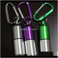 Ящики для хранения BINS Портативный мини-алюминиевый пилюльки корпус медицины держатель держатель контейнера открытый брелок водонепроницаемый оптом ZA5302 BEF4L XKCAG