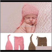 Sets Clothing Baby, Kids & Maternitydrop Ship Mohair Born Pography Props Costumes Hat+Pants Set Baby Po Aessories1 Drop Delivery 2021 Zubyi
