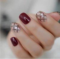 Летние короткие натуральные обнаженные белые французские ногтей подсказки ложные поддельные ногти УФ-гель нажимают на ультра легкий износ для домашнего офиса