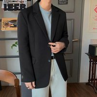 Men's Suits & Blazers IEFB Autumn 2021 Black Casual Suit Jacket Male's Korean Style Trendy Handsome Single Row Two Button 9Y3453