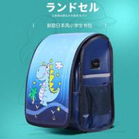 Школьные сумки Японские дети для мальчиков для мальчиков для девочек тележки Squibaging Детская колесо рюкзак съемный PU кожаная багажная книга