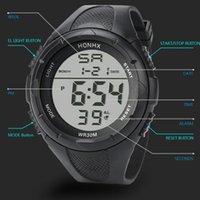 Wristwatches Fashion Men's LED Digital Alarm Sport Watch Silicone Military Quartz Wristwatch Automatic Luminous Clock Men Waterproof Mechani