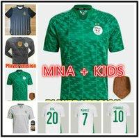 MAN KIDS KIT 21 22 Equipo nacional de Argelia Mahrez Feghouli Jerseys 2021 2022 Slimani Bennacer Atal Home Away Football Camisa de manga corta