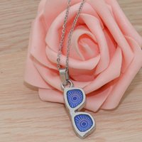 Glasses Shape Mood Necklace Stainless steel chain Necklace Color Changing With Temperature Change Feeling